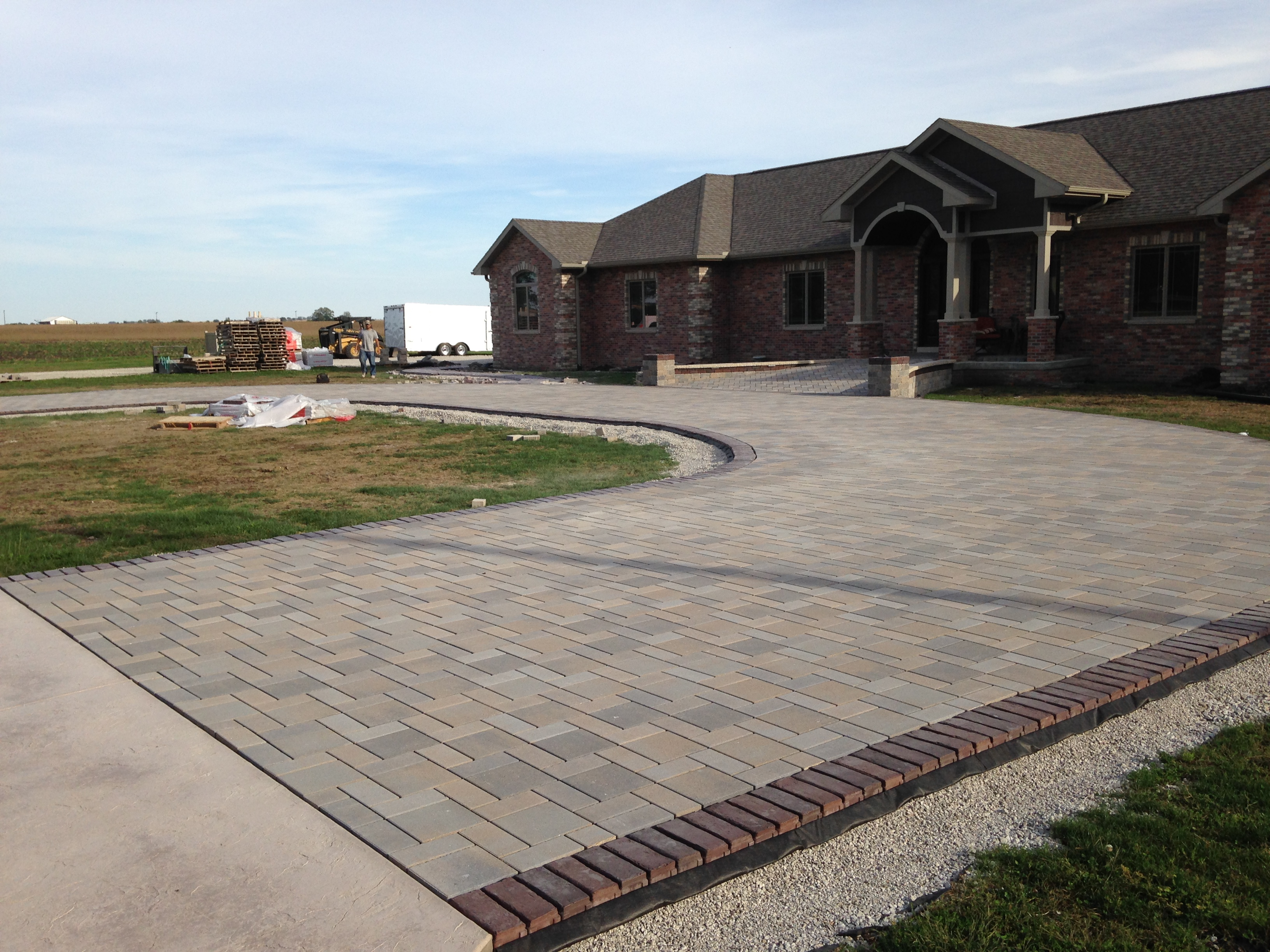 Permiable Paver Patio with Series 3000 and Town Hall