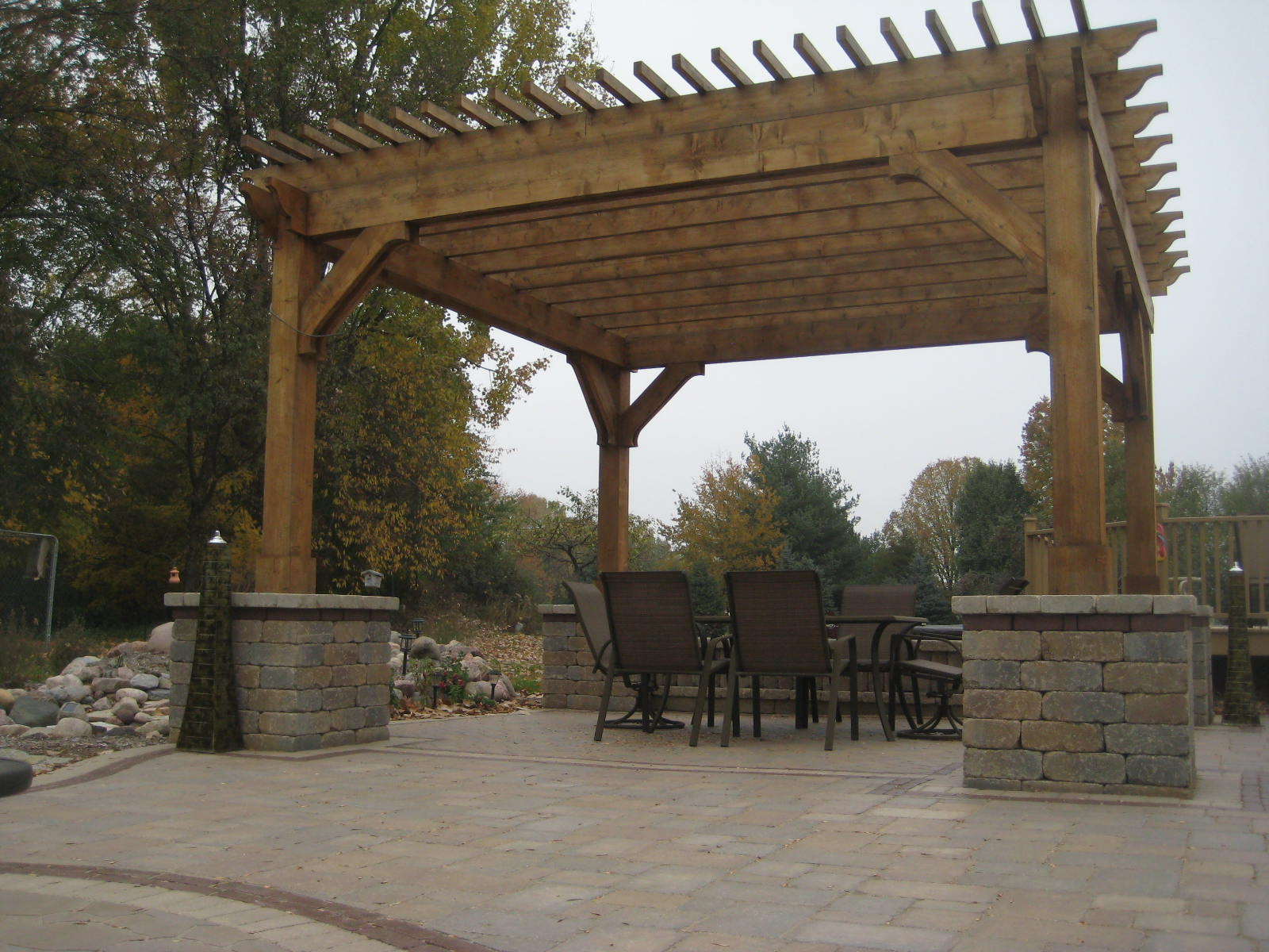 Brussels Black in Coffee Creek with Pergola