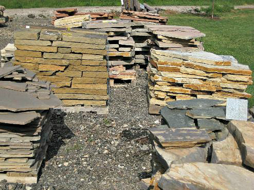 Flagstone and Steppers: Tennessee Quartz, Plumbwood, Fon Du Lac, Rocky Mountain Rose